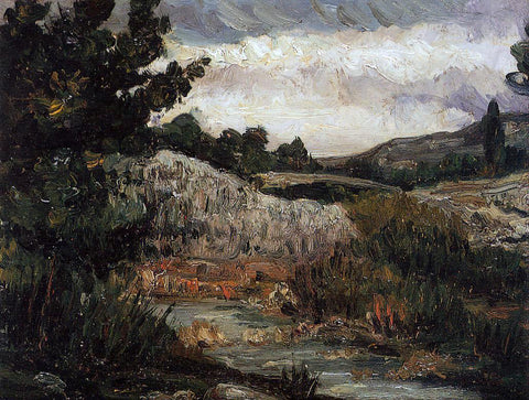 Paul Cezanne Landscape - Mount Saint-Victoire - Hand Painted Oil Painting