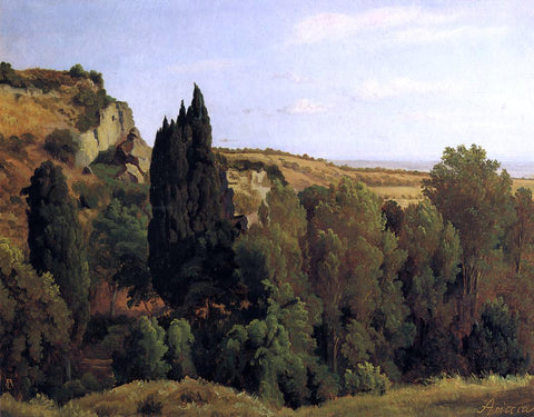 George August Lucas Landscape near Ariccia - Hand Painted Oil Painting
