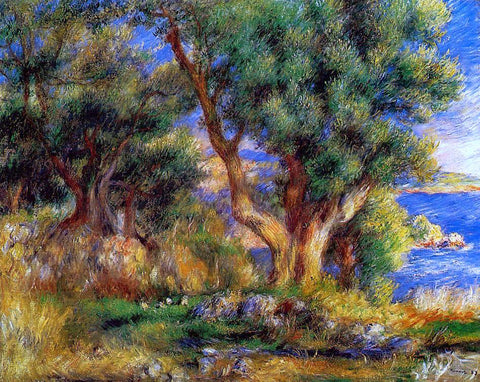 Pierre Auguste Renoir Landscape near Manton - Hand Painted Oil Painting