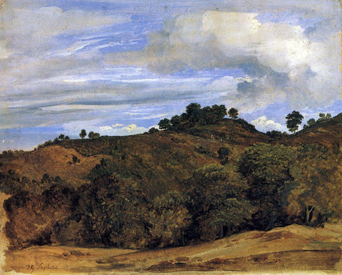 Heinrich Carl Reinhold Landscape near Olevano: La Serpentara - Hand Painted Oil Painting