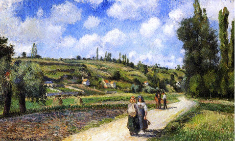 Camille Pissarro Landscape near Pontoise, the Auvers Road - Hand Painted Oil Painting