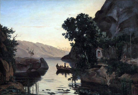 Jean-Baptiste-Camille Corot Landscape near Riva on Lake Garda - Hand Painted Oil Painting