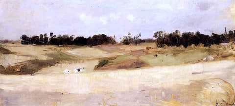 Berthe Morisot Landscape near Valenciennes - Hand Painted Oil Painting