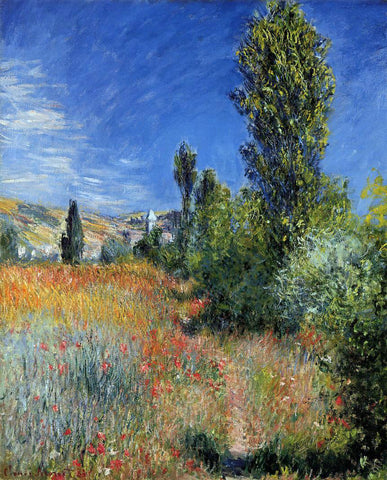 Claude Oscar Monet Landscape on the Ile Saint-Martin - Hand Painted Oil Painting