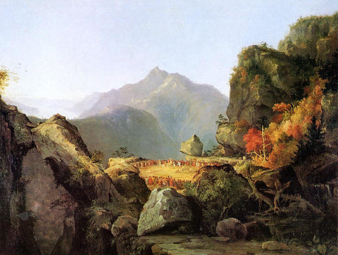 Thomas Cole Landscape Scene from 'The Last of the Mohicans' - Hand Painted Oil Painting