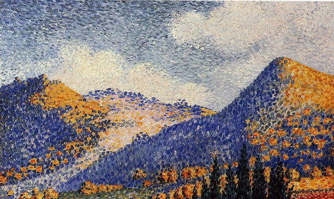Henri Edmond Cross Landscape, the Little Maresque Mountains - Hand Painted Oil Painting