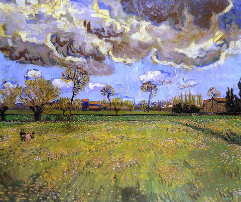 Vincent Van Gogh Landscape under a Stormy Sky - Hand Painted Oil Painting