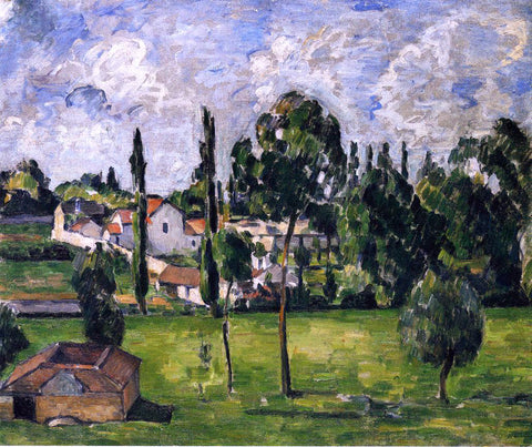 Paul Cezanne Landscape with a Canal - Hand Painted Oil Painting