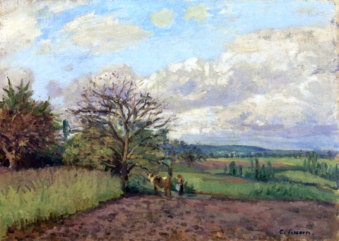 Camille Pissarro Landscape with a Cowherd - Hand Painted Oil Painting