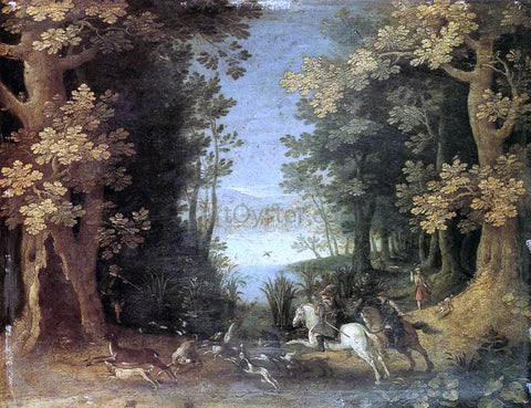 Sebastian Vrancx Landscape with a Deer Hunt - Hand Painted Oil Painting
