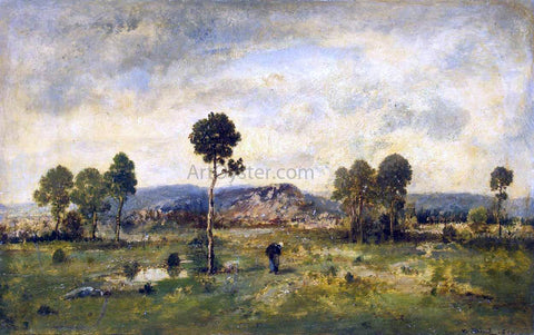 Narcisse Virgilio Diaz De la Pena  Landscape with a Pine-tree - Hand Painted Oil Painting