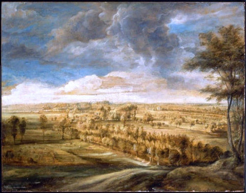 Peter Paul Rubens Landscape with an Avenue of Trees - Hand Painted Oil Painting
