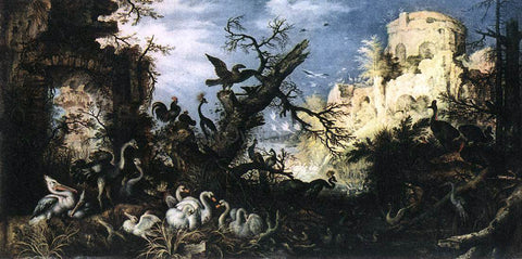 Roelandt Jacobszoon Savery Landscape with Birds - Hand Painted Oil Painting