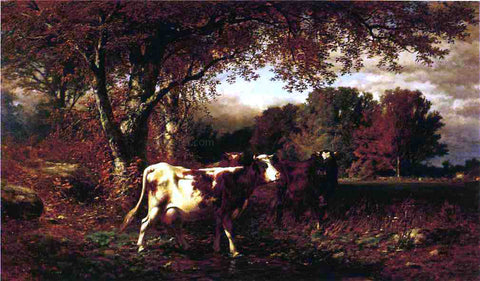 James McDougal Hart Landscape with Cattle - Hand Painted Oil Painting