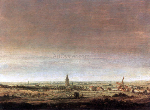 Hercules Seghers Landscape with City on a River - Hand Painted Oil Painting