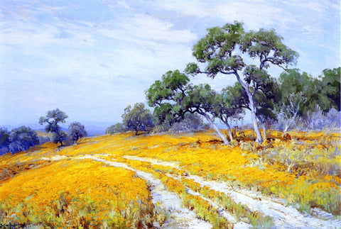 Julian Onderdonk Landscape with Coreopsis - Hand Painted Oil Painting