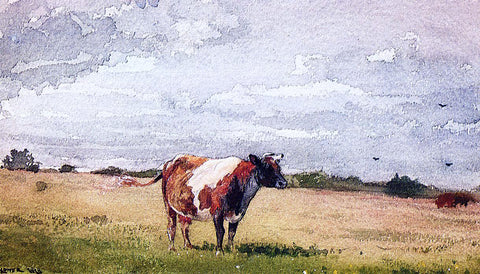 Winslow Homer A Landscape with Cow - Hand Painted Oil Painting