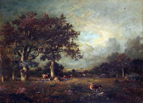 Jules Dupre Landscape with Cows - Hand Painted Oil Painting