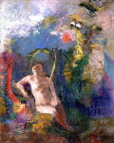 Odilon Redon Landscape with Eve - Hand Painted Oil Painting