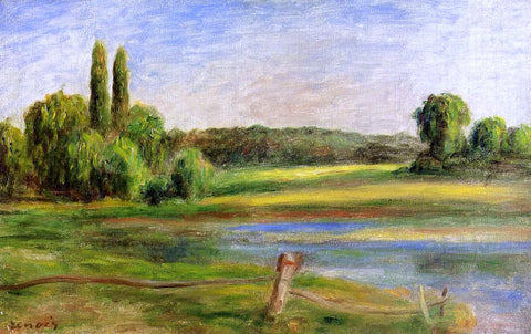 Pierre Auguste Renoir Landscape with Fence - Hand Painted Oil Painting