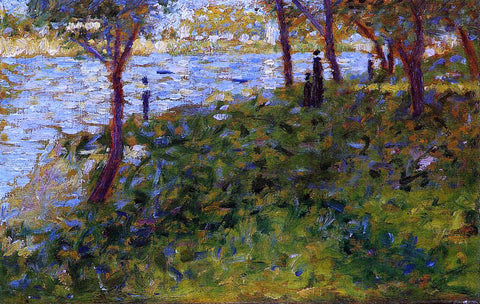 Georges Seurat Landscape with Figures - Hand Painted Oil Painting