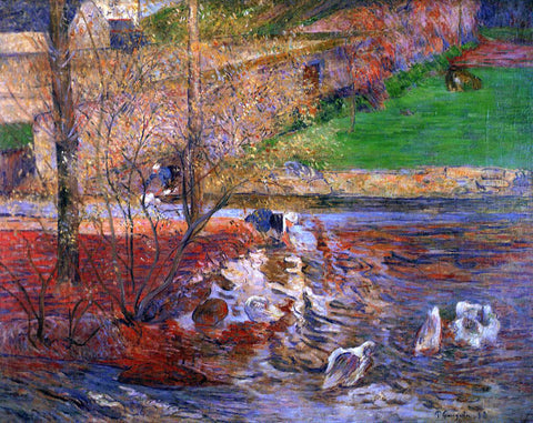 Paul Gauguin Landscape with Geese - Hand Painted Oil Painting