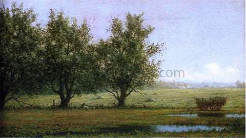 Martin Johnson Heade Landscape with Hay Wagon - Hand Painted Oil Painting