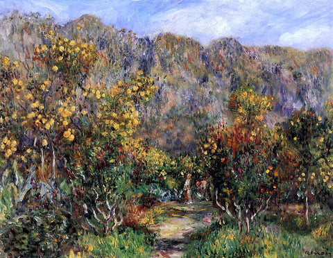 Pierre Auguste Renoir Landscape with Mimosas - Hand Painted Oil Painting