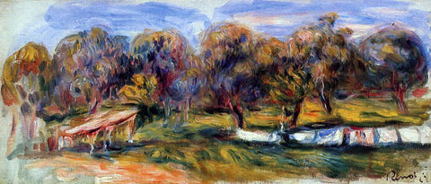 Pierre Auguste Renoir Landscape with Orchard - Hand Painted Oil Painting