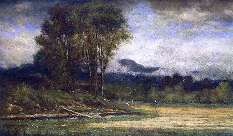 George Inness Landscape with Pond - Hand Painted Oil Painting