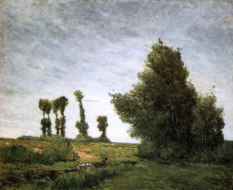 Paul Gauguin Landscape with Poplars - Hand Painted Oil Painting