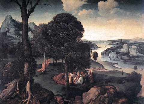 Joachim Patenier Landscape with St John the Baptist Preaching - Hand Painted Oil Painting