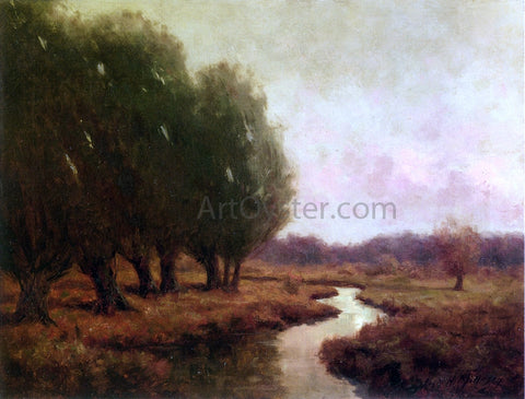 Royal Hill Milleson Landscape with Stream (also known as Evening Landscape) - Hand Painted Oil Painting