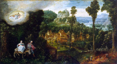 Herri Met de Bles Landscape with the Flight into Egypt - Hand Painted Oil Painting