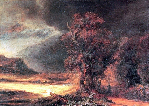 Rembrandt Van Rijn Landscape with the Good Smaritan - Hand Painted Oil Painting