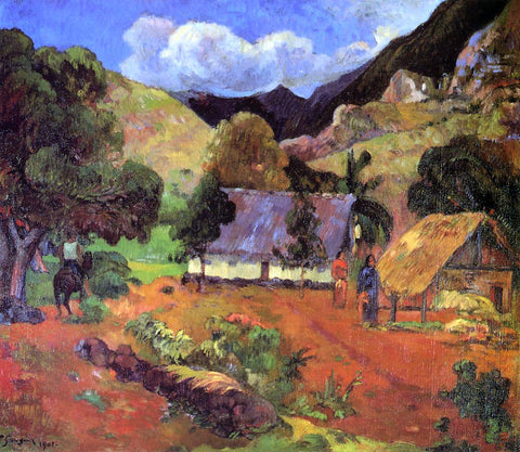 Paul Gauguin Landscape with Three Figures - Hand Painted Oil Painting