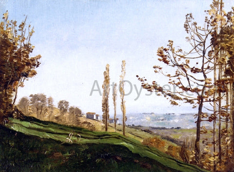 Paul-Camille Guigou Landscape with Three Poplars - Hand Painted Oil Painting
