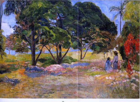 Paul Gauguin Landscape with Three Trees - Hand Painted Oil Painting