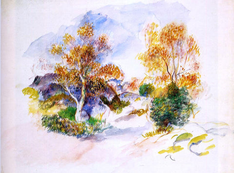 Pierre Auguste Renoir Landscape with Trees - Hand Painted Oil Painting
