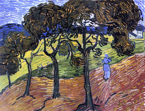 Vincent Van Gogh Landscape with Trees and Figures - Hand Painted Oil Painting