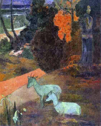 Paul Gauguin Landscape with Two Goats - Hand Painted Oil Painting
