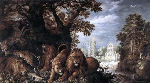 Roelandt Jacobszoon Savery Landscape with Wild Animals - Hand Painted Oil Painting