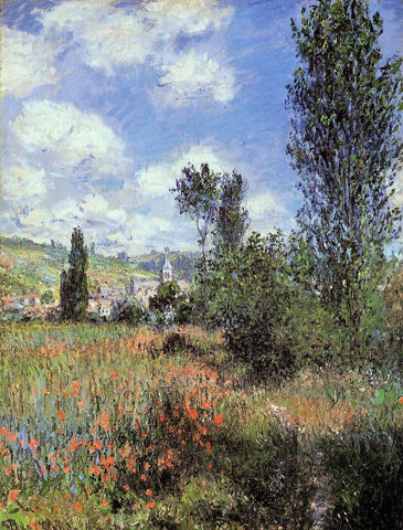 Claude Oscar Monet Lane in the Poppy Fields, Ile Saint-Martin - Hand Painted Oil Painting