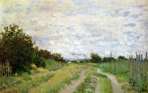 Claude Oscar Monet Lane in the Vineyards at Argenteuil - Hand Painted Oil Painting