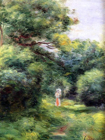 Pierre Auguste Renoir Lane in the Woods, Woman with a Child in Her Arms - Hand Painted Oil Painting