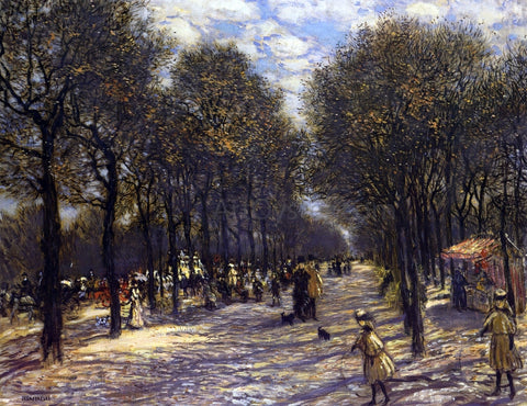 Jean-Francois Raffaelli Lane of Trees on the Champs-Elysees - Hand Painted Oil Painting