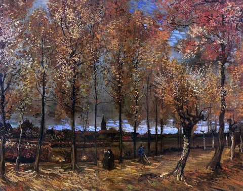 Vincent Van Gogh Lane with Poplars - Hand Painted Oil Painting