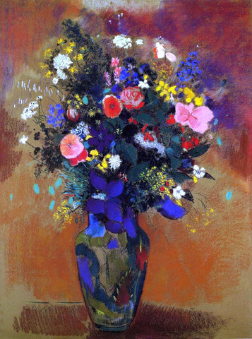 Odilon Redon Large Bouquet of Wild Flowers - Hand Painted Oil Painting