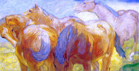 Franz Marc Large Lenggries Horse Painting - Hand Painted Oil Painting