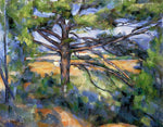 Paul Cezanne Large Pine and Red Earth - Hand Painted Oil Painting